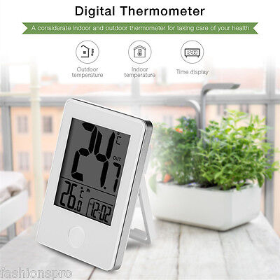 Remote Precision Wireless Digital Indoor Outdoor Thermometer White