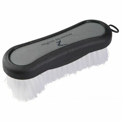 Horze Maddox Leather-Handled Face Brush Better Grip for Horse