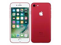 Apple iphone 7 (Red) Unlocked