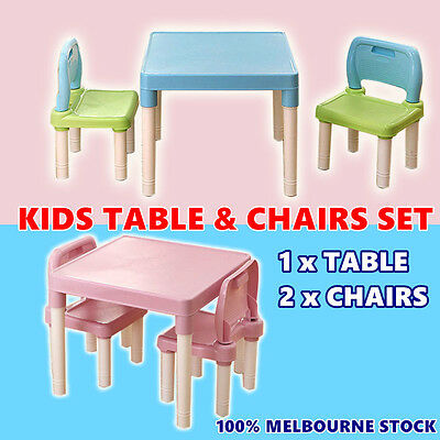 Kids Toddler Children Table and 2 Chair Set Activity Playing ABC Alphabet Learn