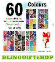 60 Colori 2000 X Resina Retro Piatto Strass Diamante Finto Nail Art Artigianato -  - ebay.it