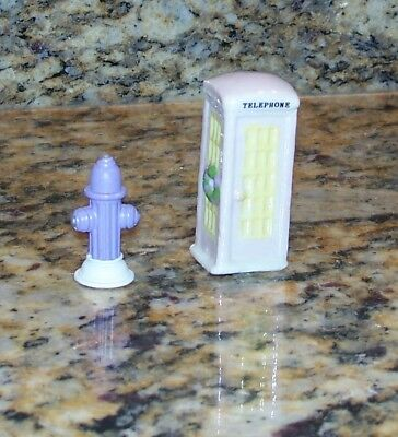 Christmas Village Mini Accessory Pink/Yellow Telephone Booth Purple Fire Hydrant](Purple Fire Hydrant)