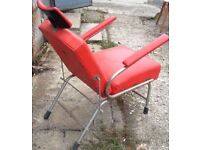AWESOME Vintage COSMETIC 60s CHAIR Quirky Furniture Seat Retro Bright Decor