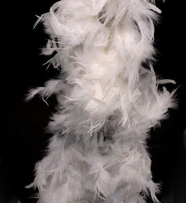 White Feather Boa (6', 60 grams) (White Boa Feathers)