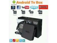 New MXQ 4K Quad Core Android TV Box Fully Loaded - Free Sports & Movies