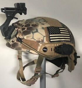 Ballistic IIIA SOHAH Gunfighter DuPont Kevlar helmet DH 132B CVC Ops Core Large