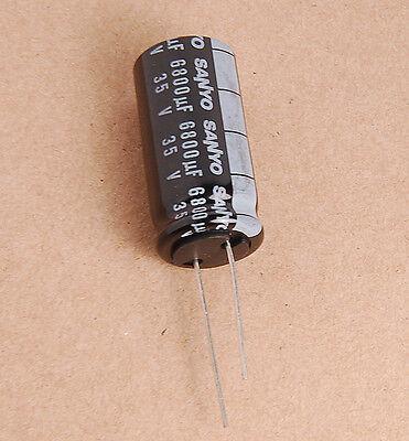 1pcs 6800uf 35v Radial Electrolytic Capacitor Upgrade 25v 35v6800uf Sanyo