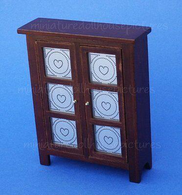 Miniature Dollhouse Wood Pie Safe Walnut In Color 1:12 Scale