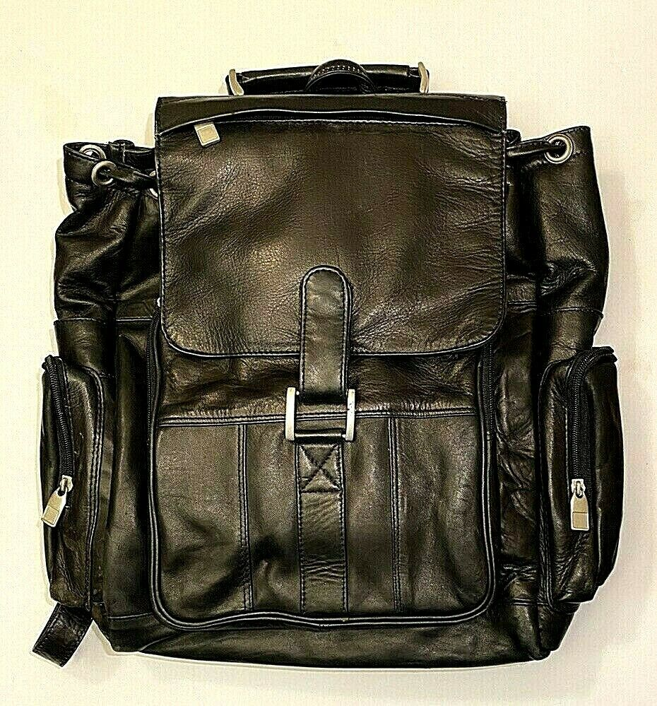 Vintage Leather Backpack Travel Hand Shoulder School Bag Sat