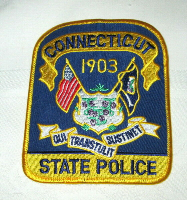 **Large CONNECTICUT STATE POLICE PATCH - NEW**