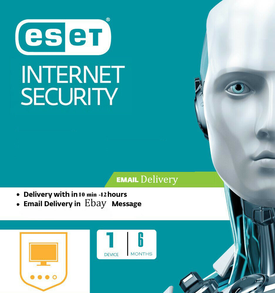 ESET NOD32 Internet Security 2020, 6MONTHS/180DAYS -1 PC (License Key) Antivirus