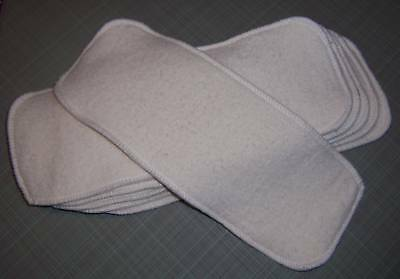 Cloth Diaper Inserts Super Soakers size 13x5 Hemp Organic Cotton Fleece Liners ()