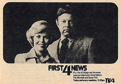 1975 Wbz Boston Tv News Ad Pat Mitchell   Gene Pell First 4 News