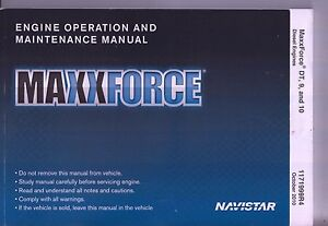 Navistar MaxxForce DT 9 and 10 Diesel Engine Operation and Maintenance Manual EY-9