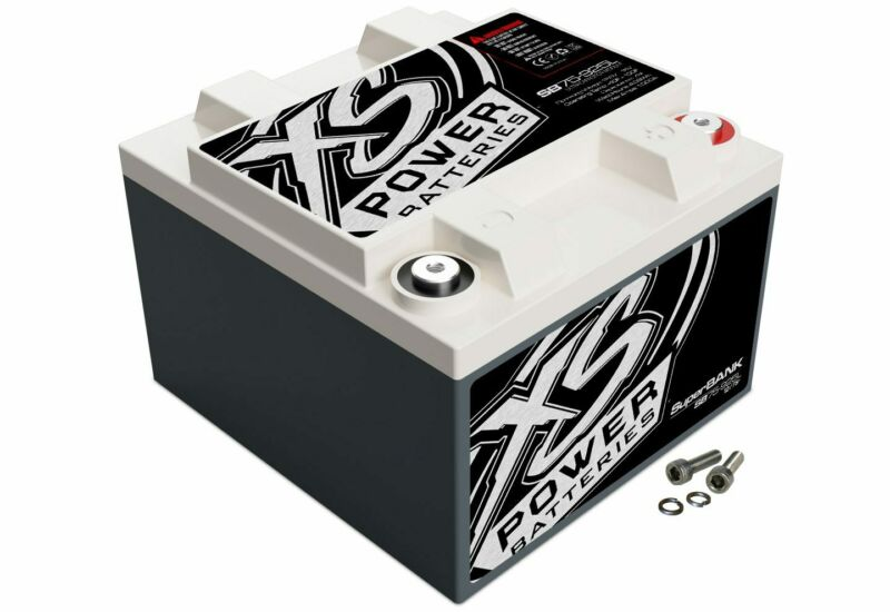XS Power 12V Compact Pro Car Audio Super Capacitor Bank 600W Max Power SB75-925L