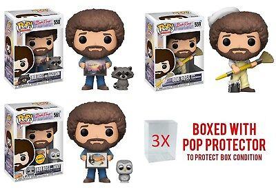 Funko Pop Television  Bob Ross Vinyl Figure W Protectore Case 1X  In Stock