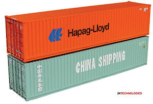 Graham Farish 379-360A N Gauge 2 x 45ft Container Set Hapag/China Shipping New