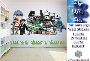 star wars lego extra large wall sticker childrens bedroom. Black Bedroom Furniture Sets. Home Design Ideas