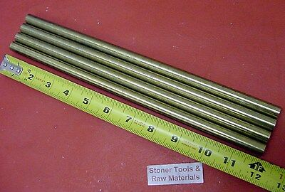4 Pieces 12 C360 Brass Round Rod 12 Long Solid New Lathe Bar Stock H02 .500