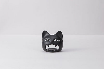 Iwachu Accessory Candle stand cat (Black color) japan