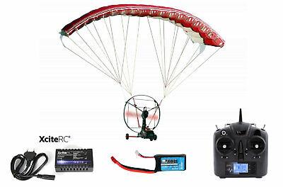RC Paracopter Gleitschirm RTF inkl. Fernbedienung 2,4Ghz / Akku / Lader all inkl Flugzeuge Fernbedienung