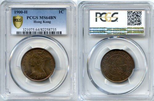 1900-H Hong Kong PCGS MS64 One Cent - BEAUTIFUL COIN!!