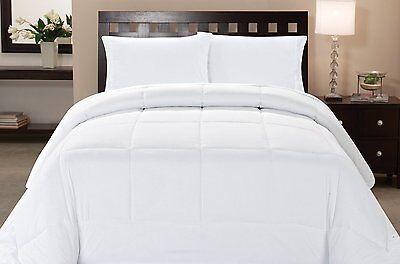 Microfiber Goose Down Double Fill Alternative Comforter - Wh