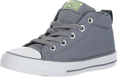 New Converse CTAS Mid Youth Sz. 5Y Shoes Grey/White 661890F