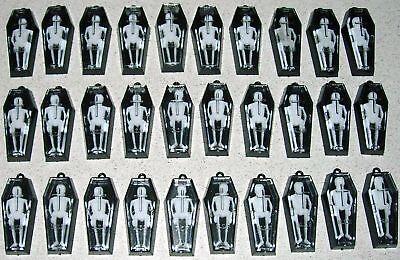 30 Mini Black Coffins With Skeletons