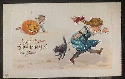 1916 Ohio Usa Picture Postcard PPC Cover May A Joyous Halloween Be Yours - Halloween Your Pic