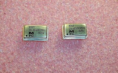 Qty 14 20 Mhz Full Size Oscillators 5v Ttl 970t-20.0000m Monitor Products