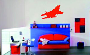 Fighter-Plane-Wall-Sticker-Vinyl-Wall-Art-Giant-transfer-picture-decals-graphics