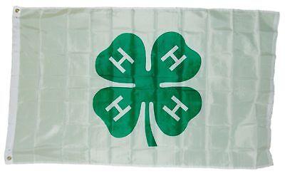 3x5 4H 4h 4 h Shamrock Flag 3'x5' Banner Brass Grommets Supe