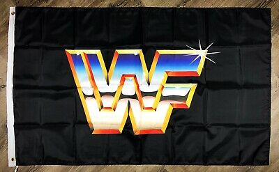 WWF World Wrestling Federation Flag 3x5 ft Banner Man-Cave Garage Bar WWE WCW - Wwe Banner