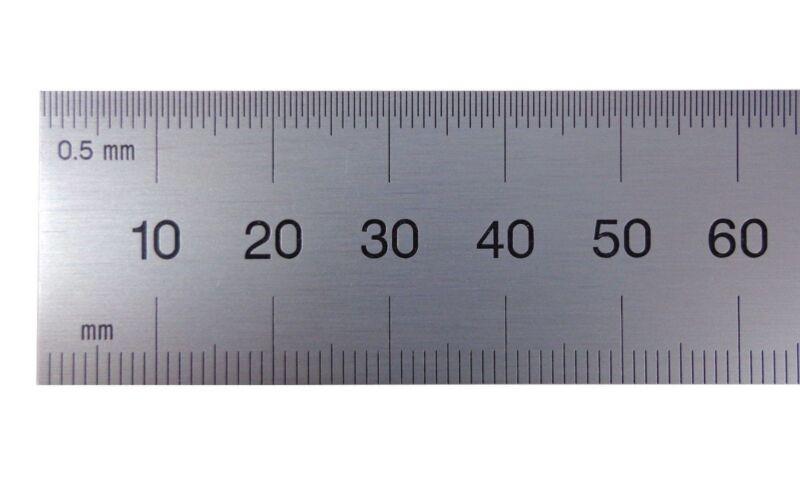 Blem Cosmetic Second Machinist Rule PEC 150 mm Rigid Metric .5mm, mm