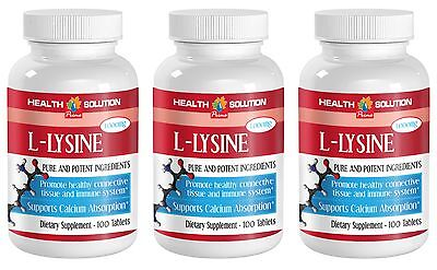 Immune System Booster - L-LYSINE 1000MG - Cholesterol LDL controller  Tablets -