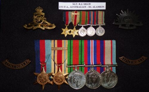 """WW 2 AUSTRALIAN ARMY """"EL ALAMEIN"""" MEDAL GROUP OF (5+) NAMED, RESEARCHED"""