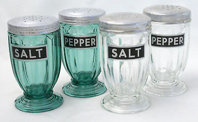 --- Jennyware SALT & PEPPER Reproduction Kitchen Labels 2 PAIR ---