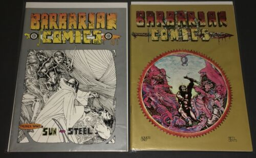 BARBARIAN COMICS #1 & #2 (1972) ADULT / HEAD COMIC - VF - 1 OWNER!