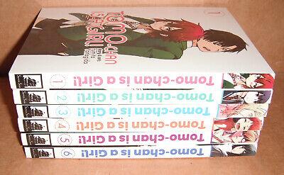 Tomo-chan is a Girl! Vol. 1, 2, 3, 4, 5, 6 Manga Graphic Novels Set English