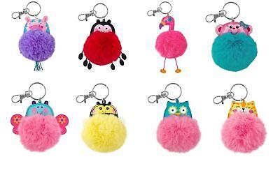 Stephen Joseph E7 Backpack Purse Pom Pom Critter Keychain SJ-1138 Choose Design (Pom Pom Critters)