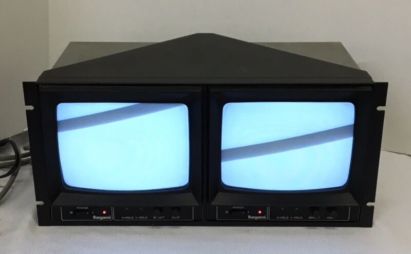 2 Monitor System Ikegami PM-930A Rev.B Retro Picture Monitors, Tested