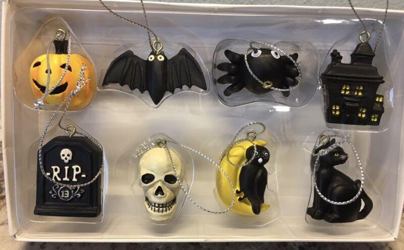 The Midnight Market Set Of 8 Mini Halloween Ornaments NIP