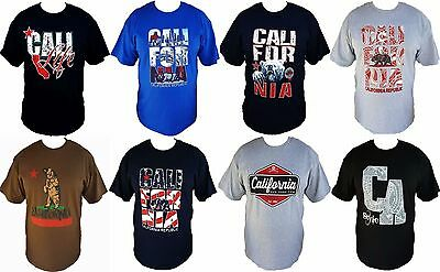 California Mens T-Shirt Free Shipping Cali Style (California Mens Fashion)