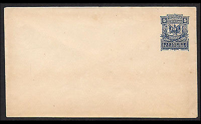 Early Dominicana 5c Stationary Envelope Unused flap has tear