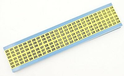 Brady Repositionable Vinyl Cloth B-500numbers Wire Marker Cards 25pk