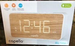Capello Extra Large LED Display Digital Dual Alarm Clock - Battery Backup
