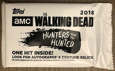 #d AUTOGRAPH! Blaster Hot Pack 2018 Topps Walking Dead Hunter Hunted Auto