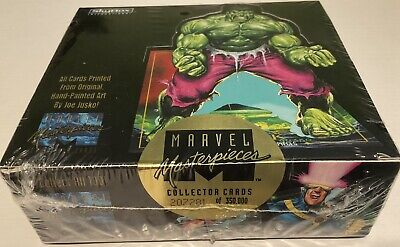 1992 Marvel Masterpieces Series 1 Box Break, 2(two) Factory sealed packs Per Lot