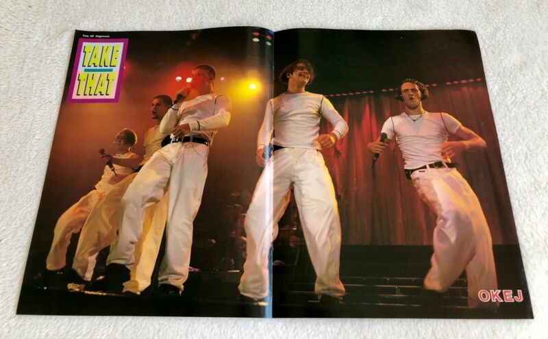 TAKE THAT 1990s Poster Swedish Music magazine OKEJ Vintage Rare